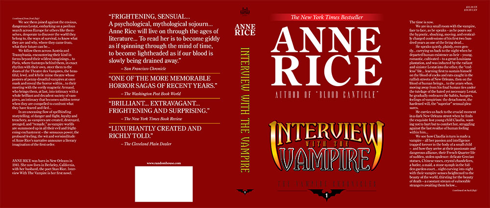 interview with the vampire dust jacket flat