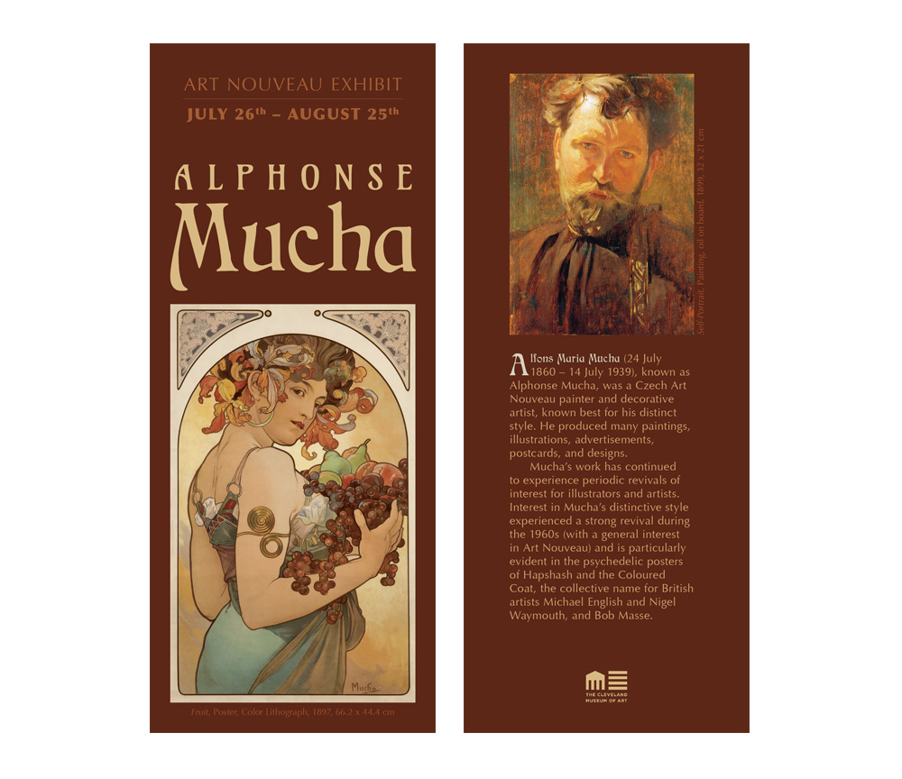 alphonse mucha brochure front and back